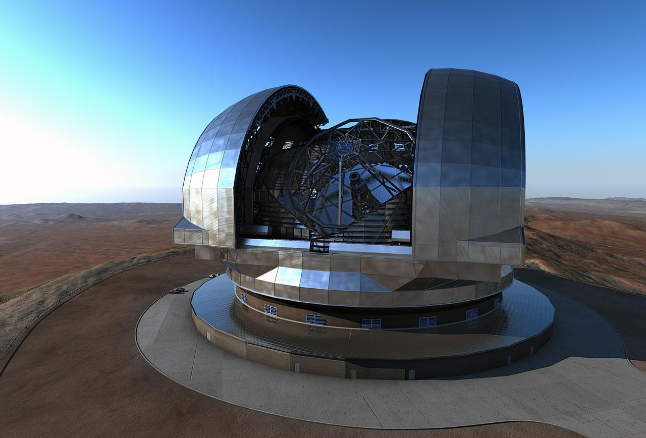 Artists impression of the European Extremely Large Telescope EELT  ESO