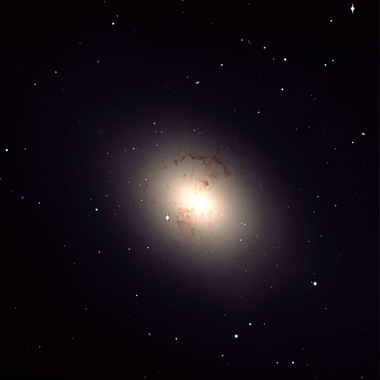 Giant elliptical galaxy NGC 1316 in Fornax Cluster  ESO
