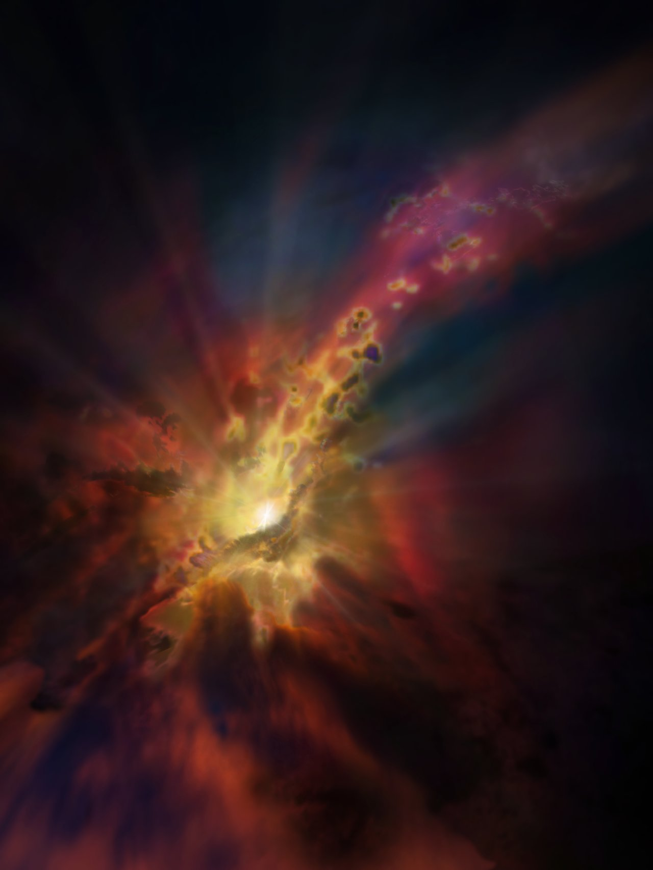 Black Hole Animated Wallpaper Black Hole Fed By Cold Intergalactic Deluge Eso