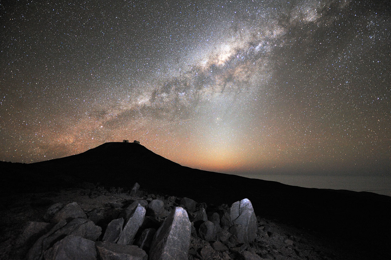 The Milky Way over Paranal  ESO