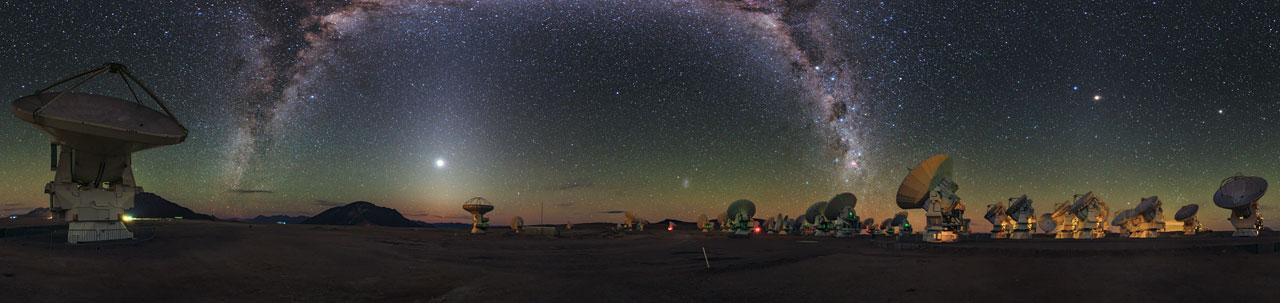 Um arco-íris cósmico em Ultra HD