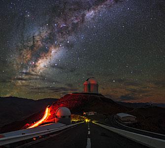 Camino a la Vía Láctea en La Silla