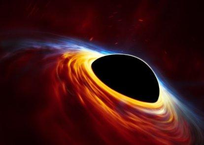 Büyük kütleli bir karadeliğin aşırı kütleçekim kuvveti, kendisine fazlasıyla yaklaşan Güneş-benzeri bir yıldızı yok ediyor. Olay sırasında, aşırı çekimin etkisinde kalan yıldız gerilerek uzun, ince bir hale getiriliyor ve çarpışan kalıntılar şok dalgaları meydana getirirken, yığışma nedeniyle ısınan madde ışık parlalamalarına yol açıyor. Bu sayede yeterince kütlesi olmadığı için aslında bu şekilde gerçekleşmeyecek olan yıldızın sonu, parlak bir süpernova patlamasını andırıyor (Telif: ESO, ESA/Hubble, M. Kornmesser).