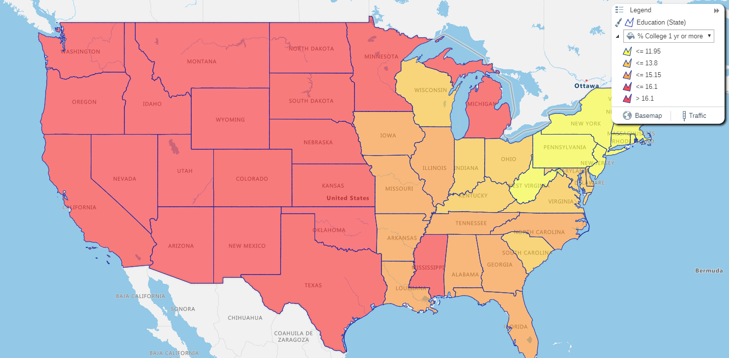 United States Education Data Free With Espatial Mapping Software