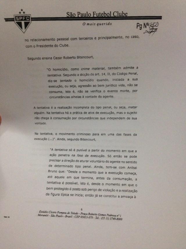 Segunda parte do Parecer da Comissão de Ética do São Paulo sobre Ataíde