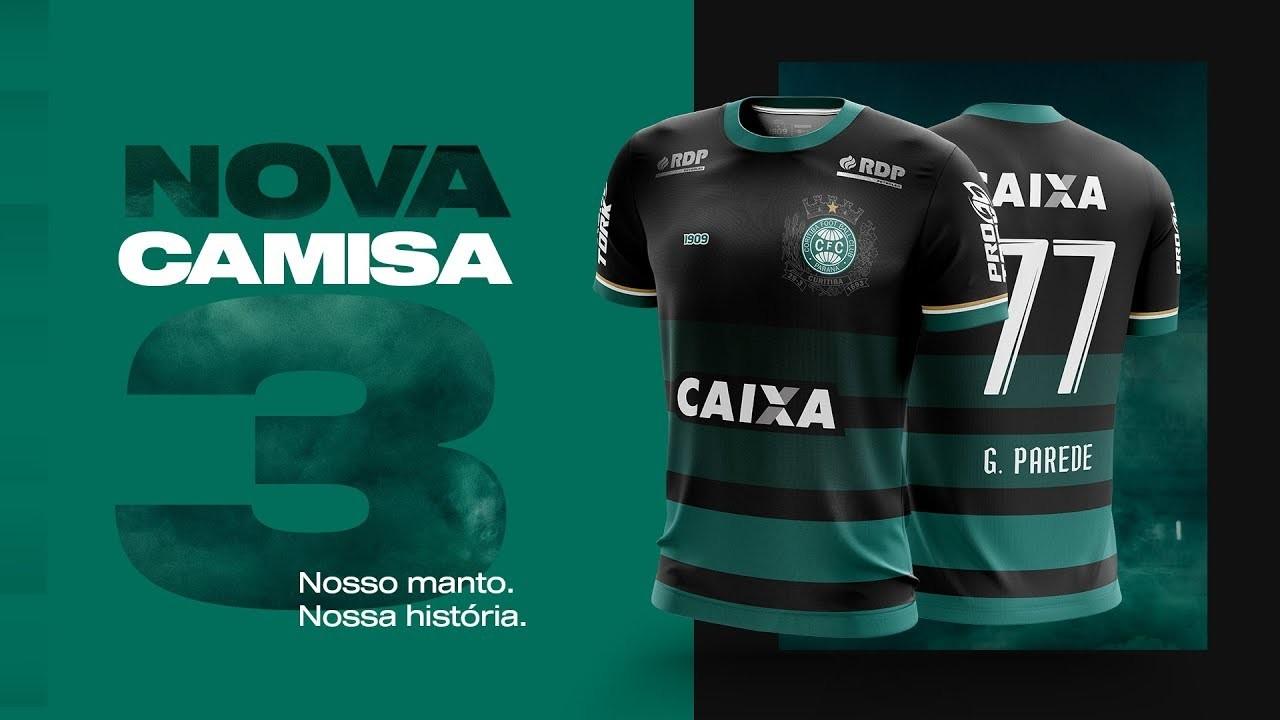 38e24e0844 ... camisas, o Coritiba pediu aos seus torcedores que desenhassem um  uniforme 3 para o clube de coração. O concurso resultou nesta bela  indumentária verde e ...