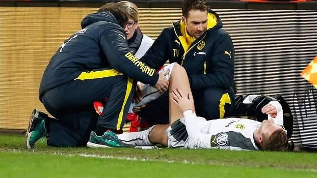 Marco Reus Lesão Borussia Dortmund Dynamo Dresden Copa da Alemanha 03/03/2015