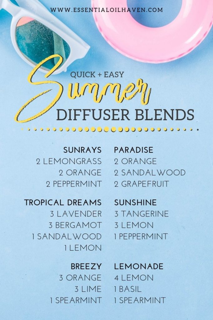 Summer Diffuser Blend Recipes - Use these Summer Essential ...