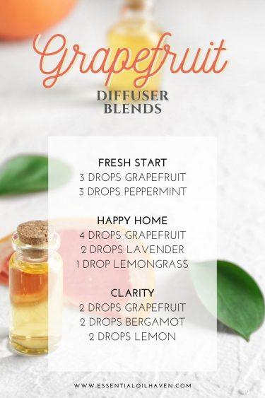 grapefruit essential oil diffuser blends