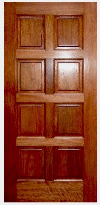 8 Panel Door : panel, Mahogany, 8-Panel, Doors