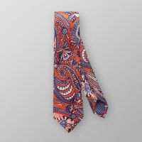 Navy and Orange Paisley Tie | Eton Shirts Canada