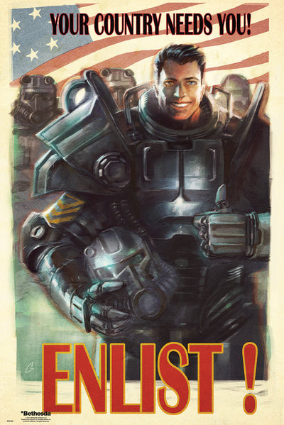 Gorillaz The Fall Wallpaper Fallout 4 Enlist Poster Sold At Europosters