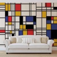 Mondrian Modern Art Wall Paper Mural | Buy at EuroPosters