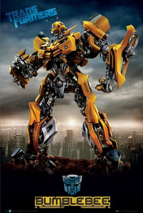 transformers bumblebee city poster