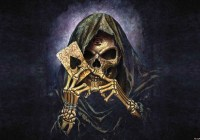 Skull Death Ace Alchemy Wall Paper Mural   Buy at EuroPosters