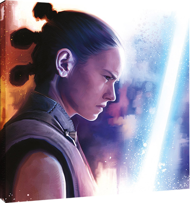 Canvas Print Star Wars The Last Jedi Rey Lightsaber Paint Sold At