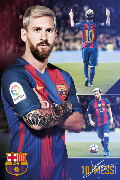 Messi 2017 : messi, Barcelona, Messi, Collage, Poster, Abposters.com