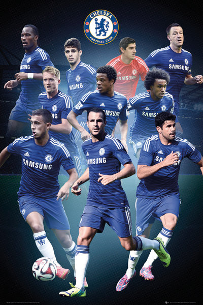 chelsea fc collage 14 15 poster all posters in one place 3 1 free