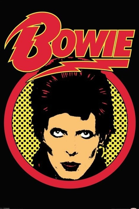 david bowie retro poster