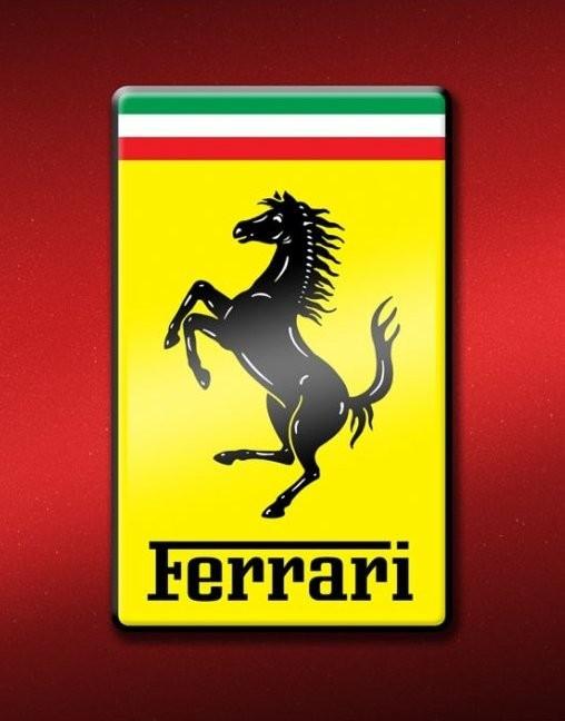 ferrari logo poster sold