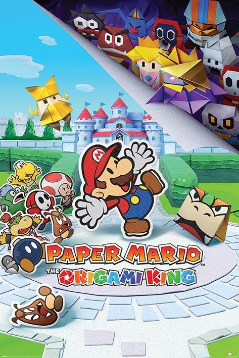 Super Paper Mario Maps : super, paper, mario, Super, (Paper), Mario, Origami, Poster, Europosters