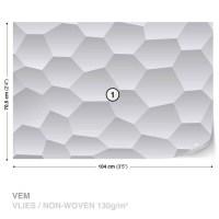 Abstract Modern Monochrome Design Wall Paper Mural