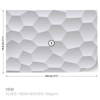 Abstract Modern Monochrome Design Wall Paper Mural | Buy ...