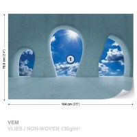 Blue Sky View Modern Wall Paper Mural | Buy at EuroPosters