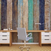 Wood Fence Planks Wall Paper Mural | Buy at EuroPosters