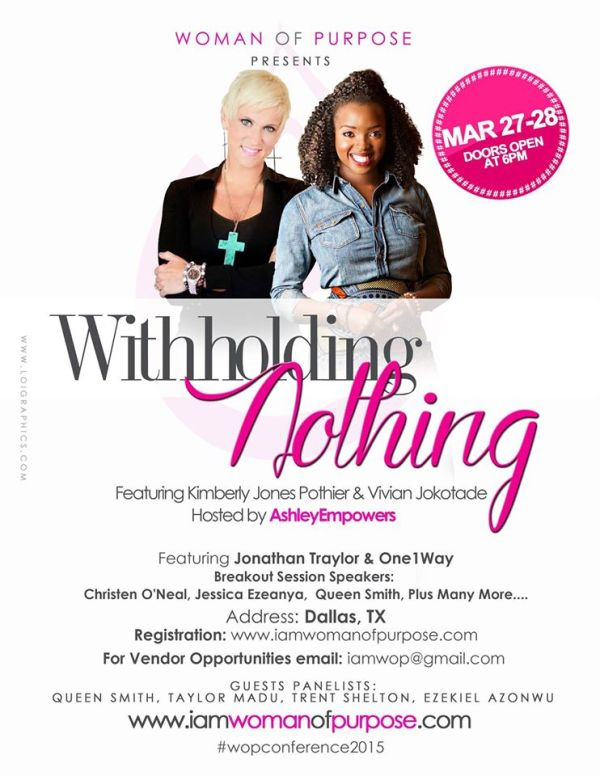 Woman of Purpose Conference Withholding Nothing with