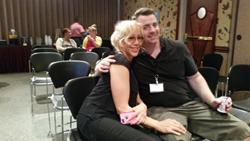 Treasurer Anneli Adolfsson & Delegate Brent Bornemeier