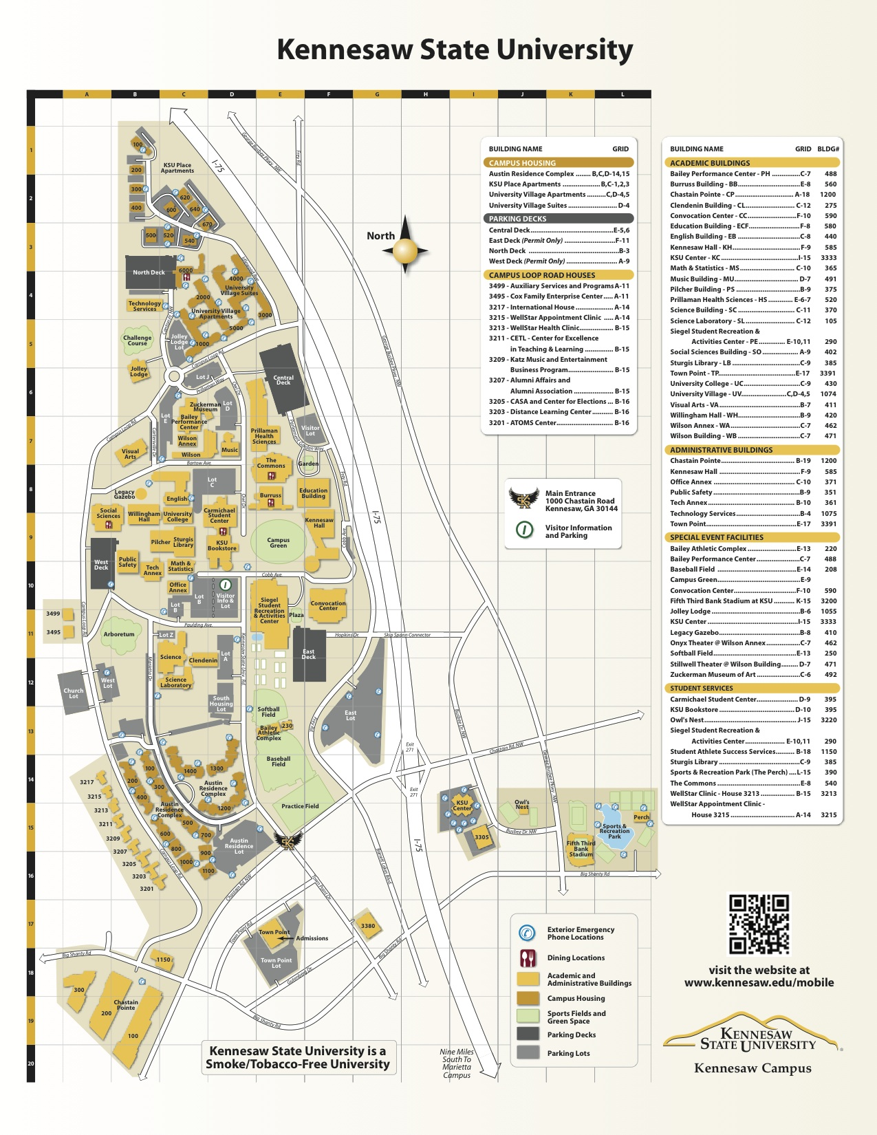 Kennesaw State University Campus Map : kennesaw, state, university, campus, Kennesaw, State, University, Campus, World, Atlas