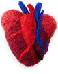 small felted heart