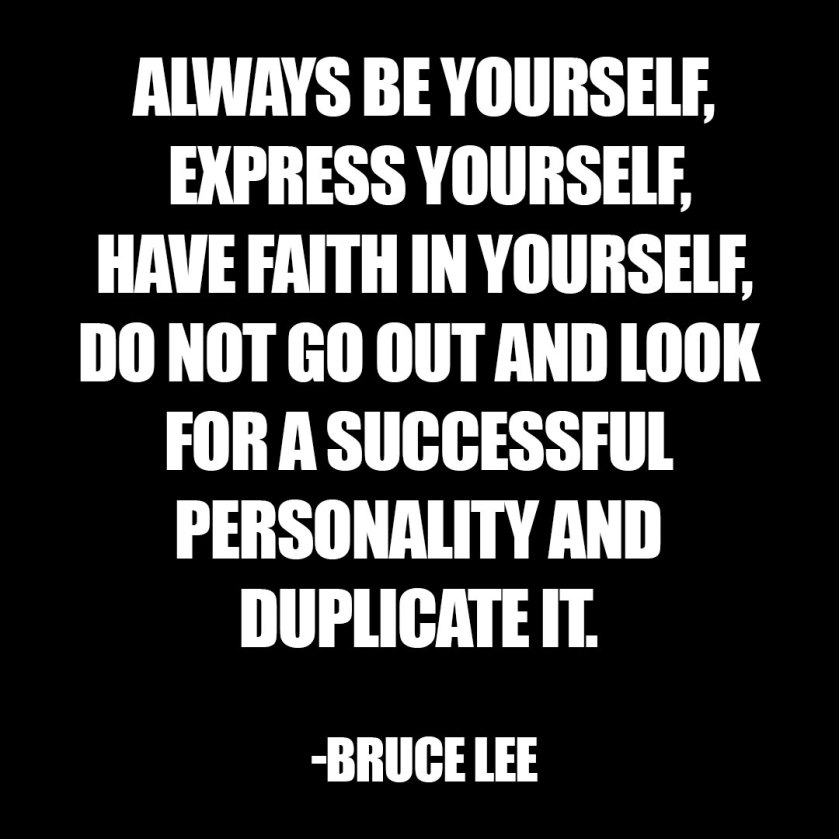 bruce lee be yourself character archetype personality quiz
