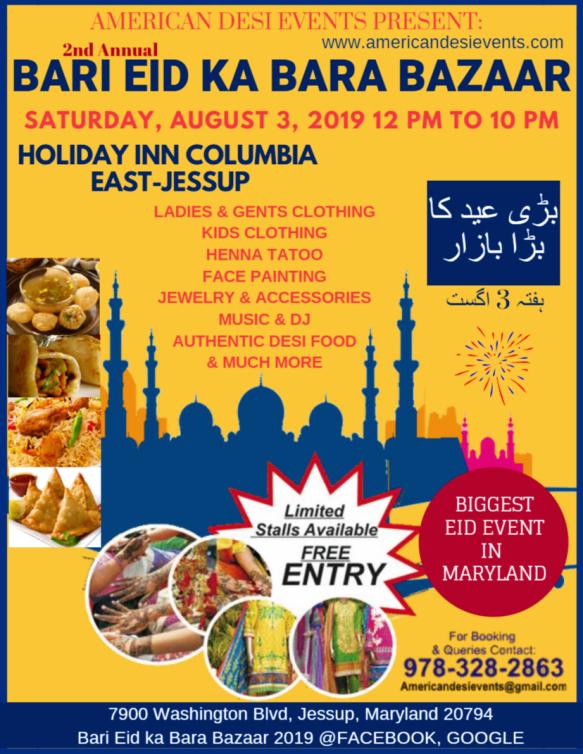 2nd Annual Bari Eid Ka Bara Bazaar