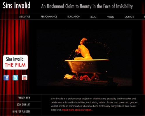 Image of webpage with naked person in bath tub