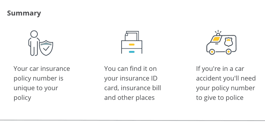Car Insurance Policy Number
