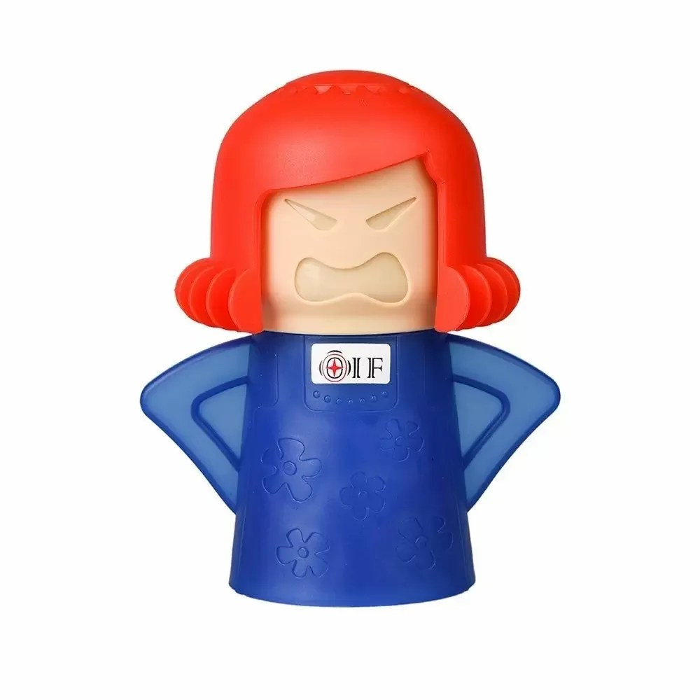 newmetro design angry mama microwave cleaner blue base