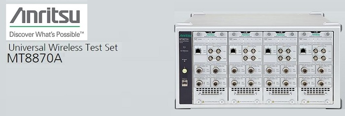 Anritsu Enhances its Wireless Test Set to Support the