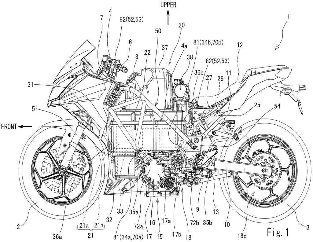 Patent filing and diagrams reveal a Kawasaki Ninja