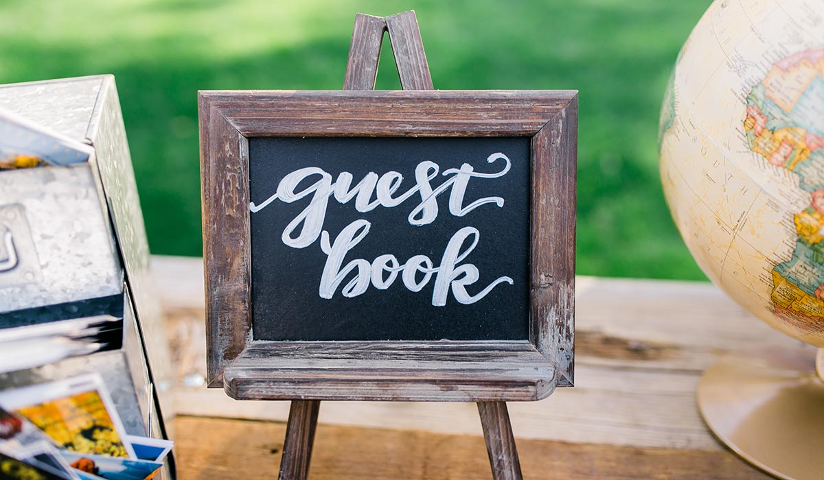 these guestbook ideas will