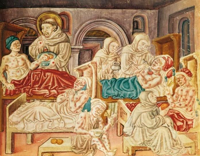 1347'de Avrupa'yı kasıp kavuran Kara Veba dört yıl içerisinde 75-200 milyon insanın (Avrupa nüfusunun %30-60'sının) hayatına mal oldu.
