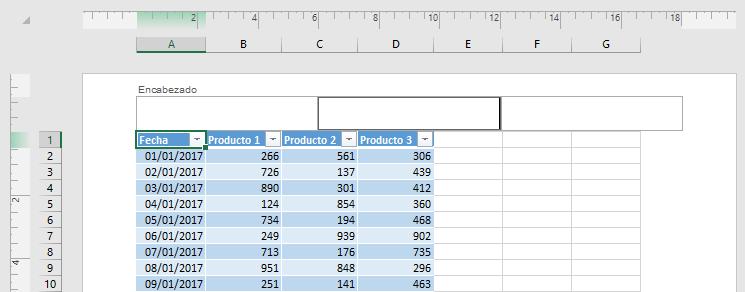 Insertar números de página en las hojas de cálculo