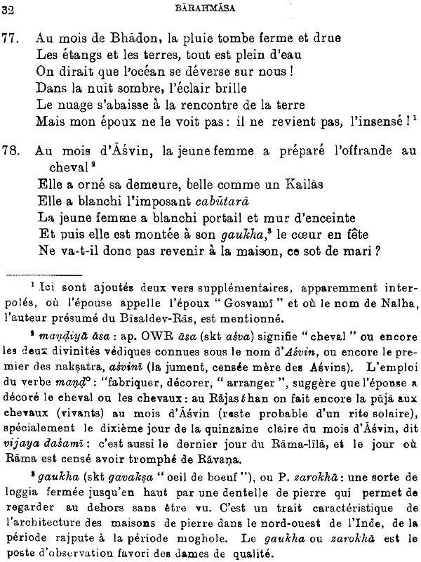 La Chanson Des Douze Mois : chanson, douze, Barahmasa:, Chansons, Douze, Littératures, Indo-Aryennes, Book)