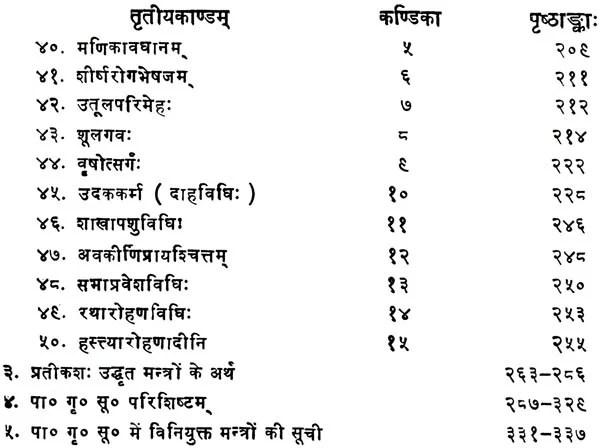 Paraskara Grhya Sutras with the Commentary of Harihar