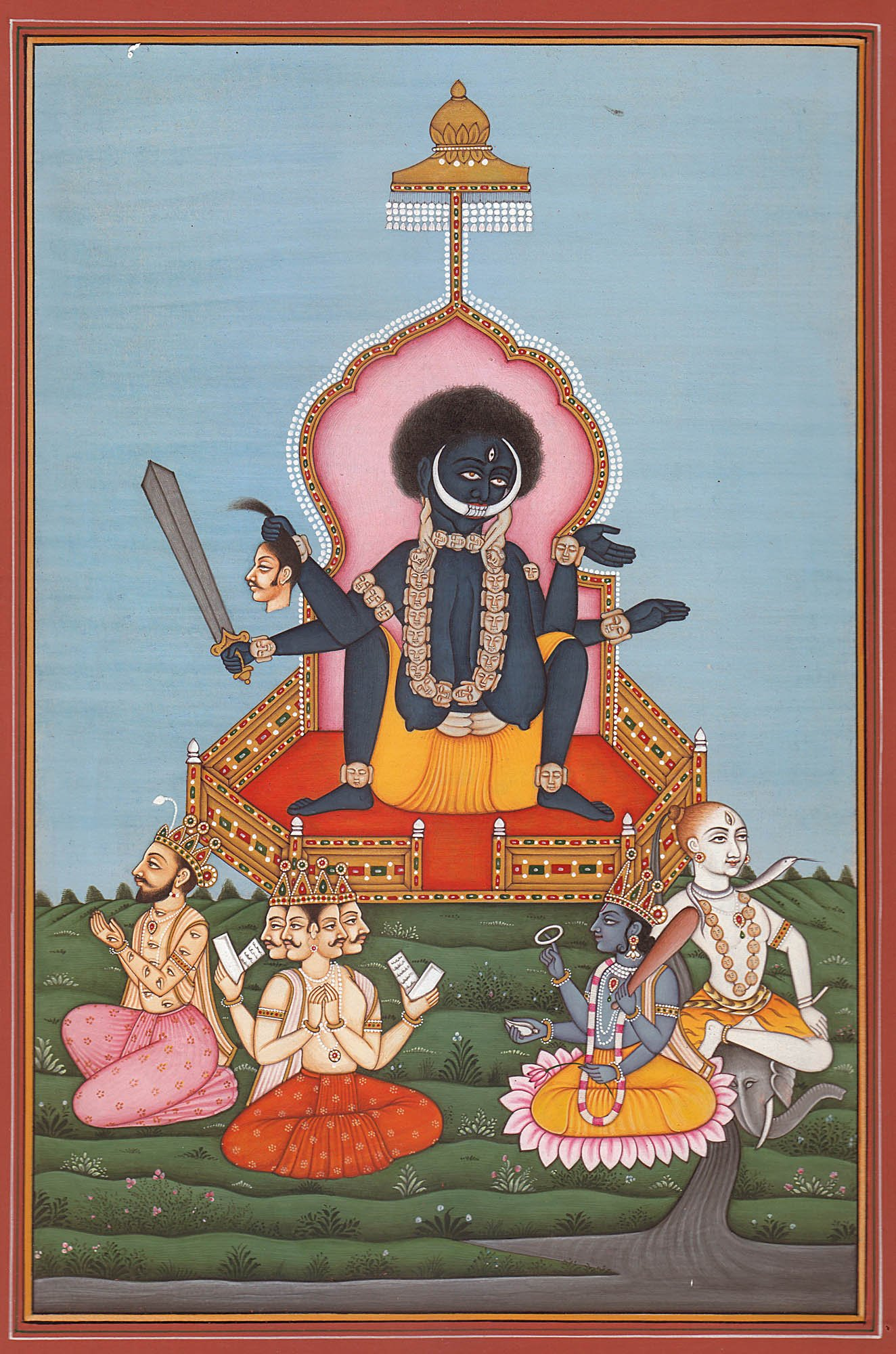 Goddess Kali in the BirthGiving Posture