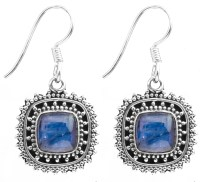 Kyanite Earrings with Granulation