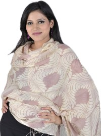 Beige and Brown Printed Shawl