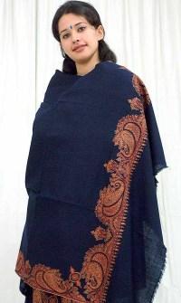 Pure Pashmina Shawl with Kashmiri Embroidery