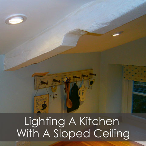 a sloped ceiling downlights direct
